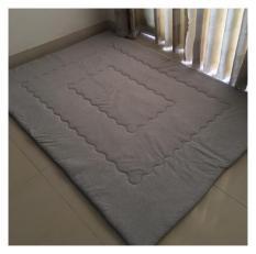 Nệm ngủ (1.4m x 2m) chằn coton dày cao cấp êm và mát ( màu xám)