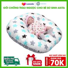 Gối chống trào ngược cho bé AKITA model ROYAL K75 vải 100% cotton Hàn cao cấp. Gối cho trẻ sơ sinh ngủ chống giật mình. Nệm cho bé đa năng êm ái, chống bẹp đầu, thấm hút mồ hôi tốt