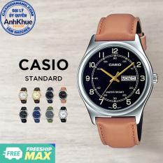 Đồng hồ nam dây da Casio Standard chính hãng Anh Khuê MTP-V006 Series