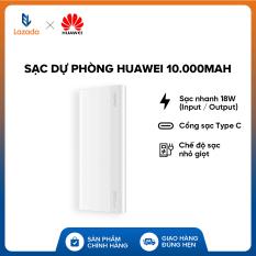 [HÀNG CHÍNH HÃNG – ĐỘC QUYỀN LAZADA] Sạc dự phòng Huawei 10.000mAh – Sạc nhanh 18W (Input / Output) – Cổng sạc Type C – Pin Lithium polyme – Chế độ sạc nhỏ giọt