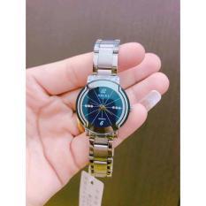 đồng hồ nữ halei mặt xanh đính đá đẹp sành điệu chống nước