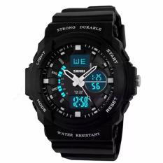 Đồng hồ thể thao – đồng hồ thời trang nam chống nước SKMEI 0955 Đen trắng