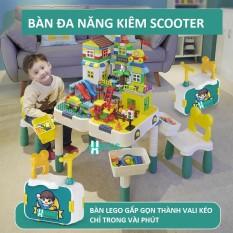 Bàn Lego Kiêm Vali Kéo Cho Bé, Bàn Giáo Dục Đa Chức Năng Trẻ Em Cao Cấp, Bàn Xếp Hình Đa Năng