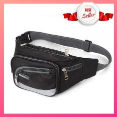 Túi đeo hông 6 ngăn tiện dụng, Túi Đeo Bụng Đeo Chéo Nam, Nữ, Túi Đeo Vải Dù Dai Cao Cấp Nhiều Ngăn V-Start