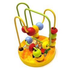 Đồ chơi gỗ thông minh Luồn hạt gỗ giúp bé phát triển tư duy kết hợp khéo léo của tay và mắt Đồ chơi trẻ em cho bé trai bé gái trên 1 tuổi