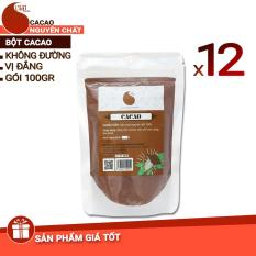 12 gói (1,2kg) bột cacao nguyên chất 100% – Light cacao – 100gr/gói