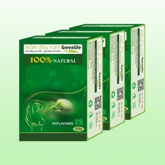 3 hộp Mầm Đậu Nành GreenLife (tăng vòng một - chống lão hóa - trị nám, tàn nhang)