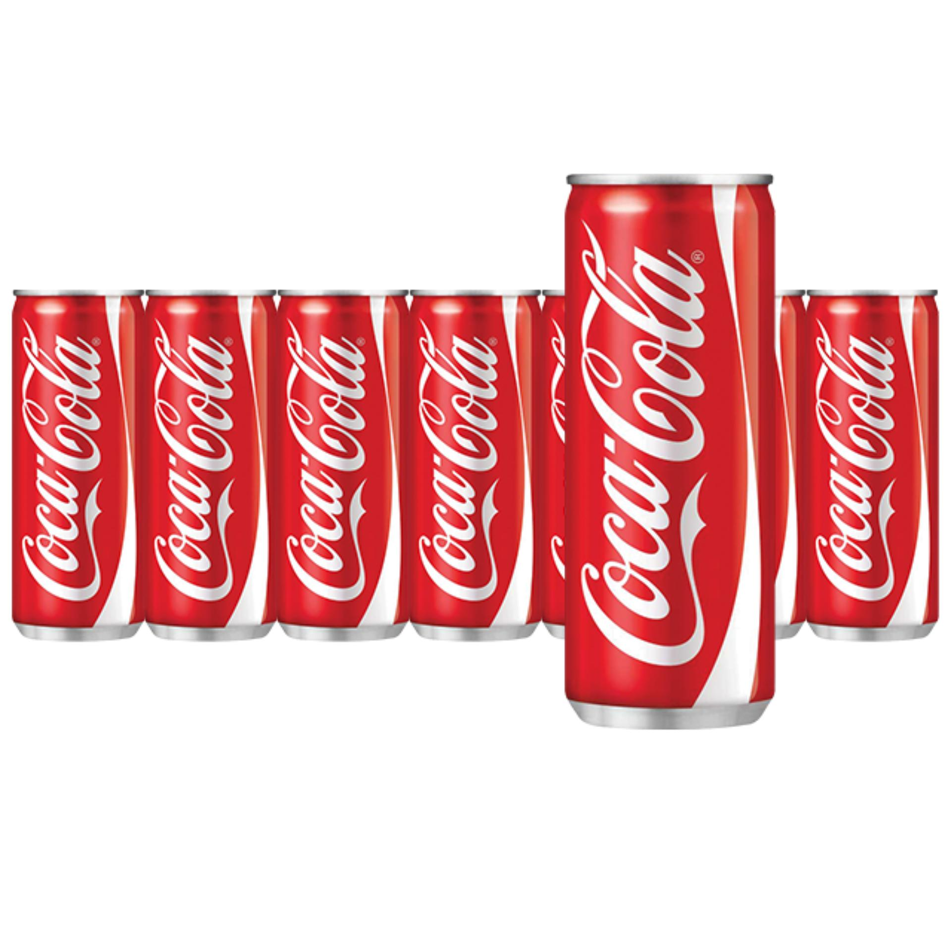 4 lon Coca-Cola đỏ 330ml
