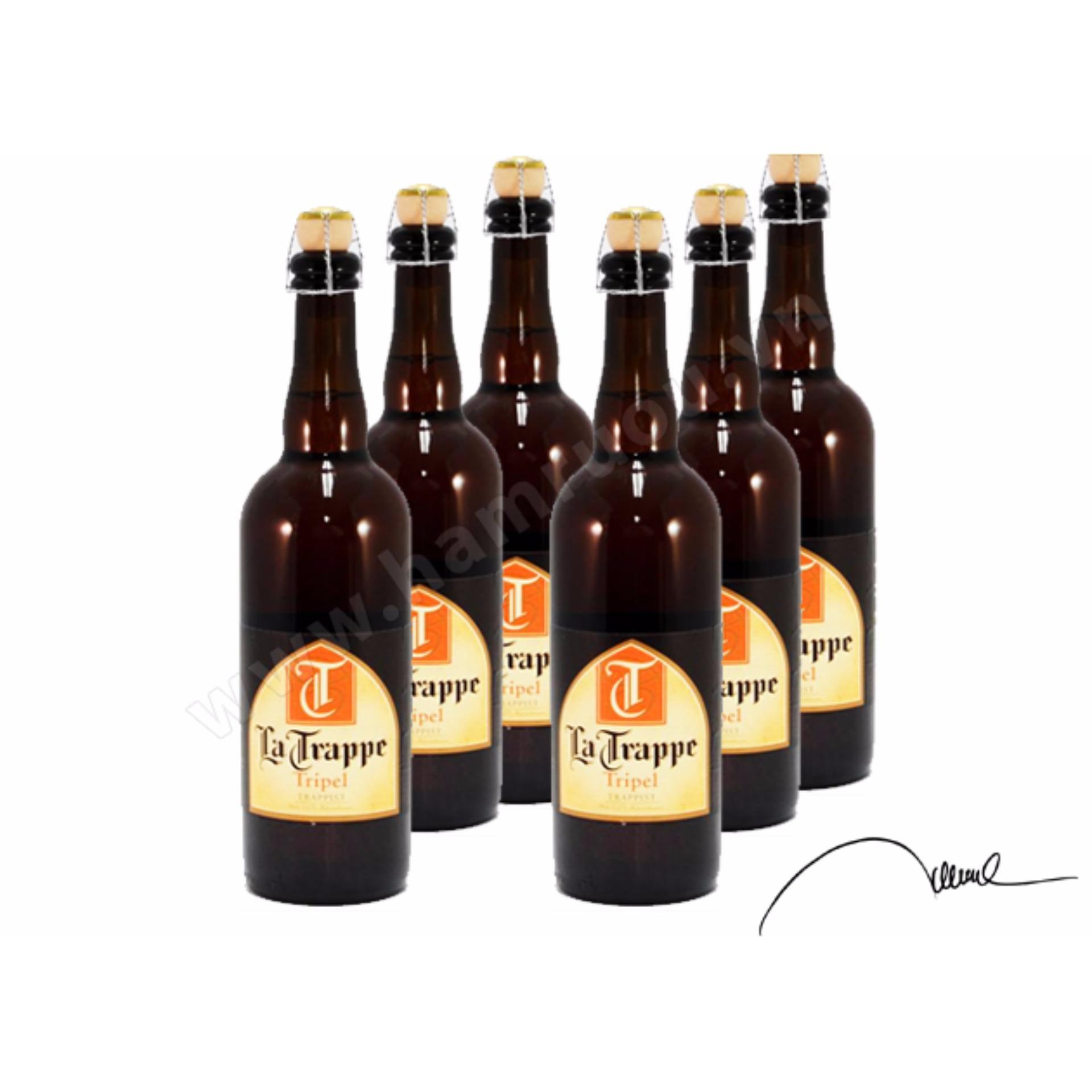 Giá Khuyến Mại Bia La Trappe Tripel 6 Chai 750ml – La Trappe Tripel Beer – Holland Beer – Netherlands Beer – Bia La Hà Lan Trappe Tripel