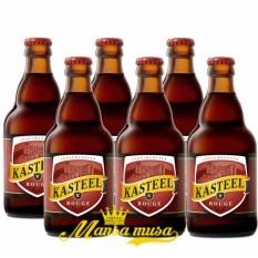 6 chai bia hoa quả Kasteel Rouge 8%