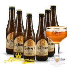 6 chai bia La Trappe Blond 330ml Bia Hà Lan