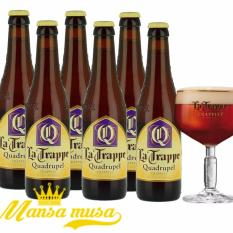 6 Chai bia La Trappe Quadrupel 10% 330ml
