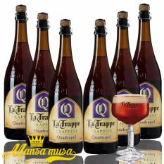 6 Chai bia La Trappe Quadrupel 750 ml