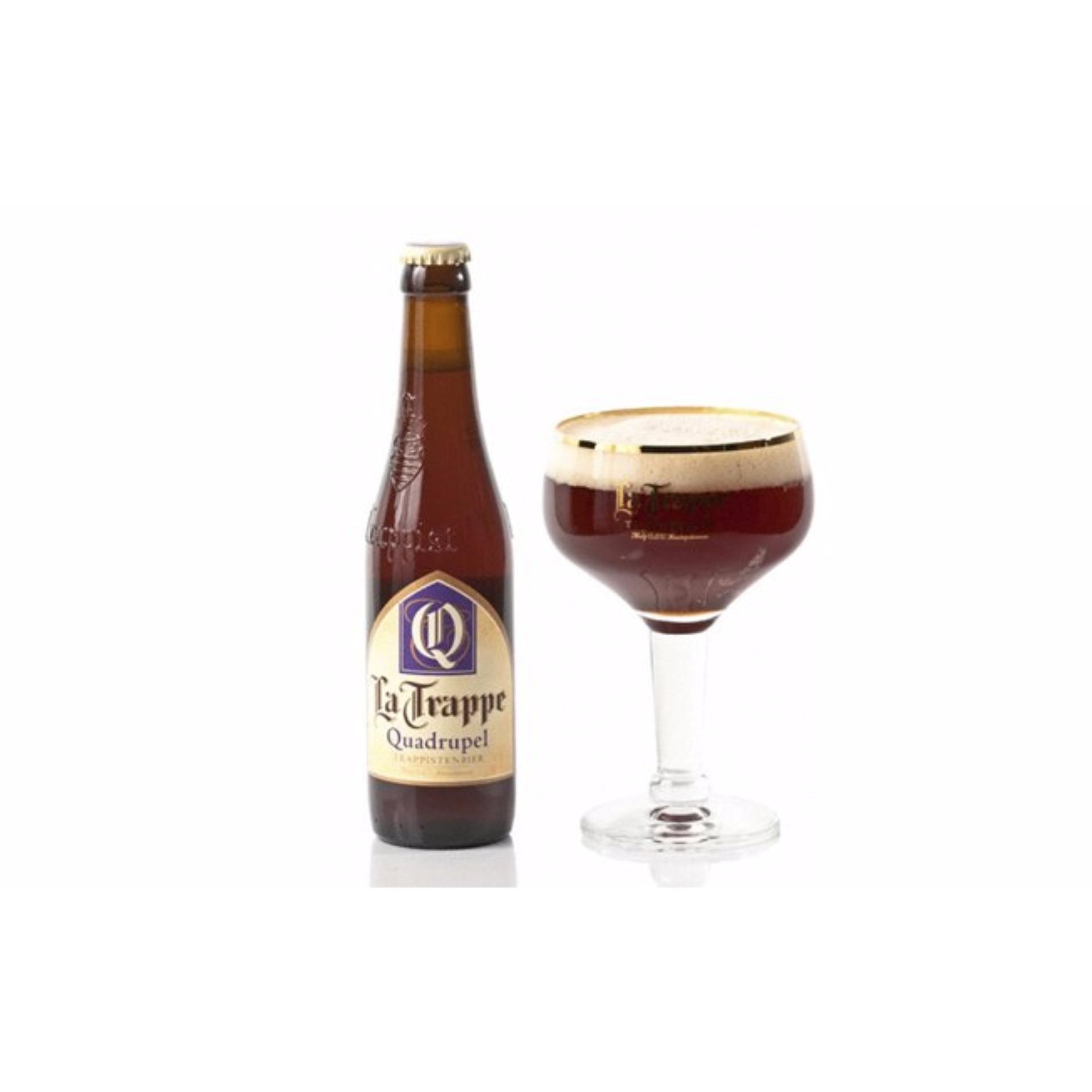 Mẫu sản phẩm 6 Chai La Trappe Quadrupel Beer – Holland Beer – Netherlands Beer – Bia La Hà Lan Trappe Quadrupel