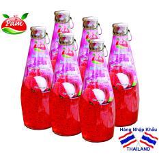 6 chai Nước Vải Thiều Bổ Sung Hạt Basil Seed – ThaiLand *KHÔNG NGON, CHÚNG TÔI HOÀN TIỀN*