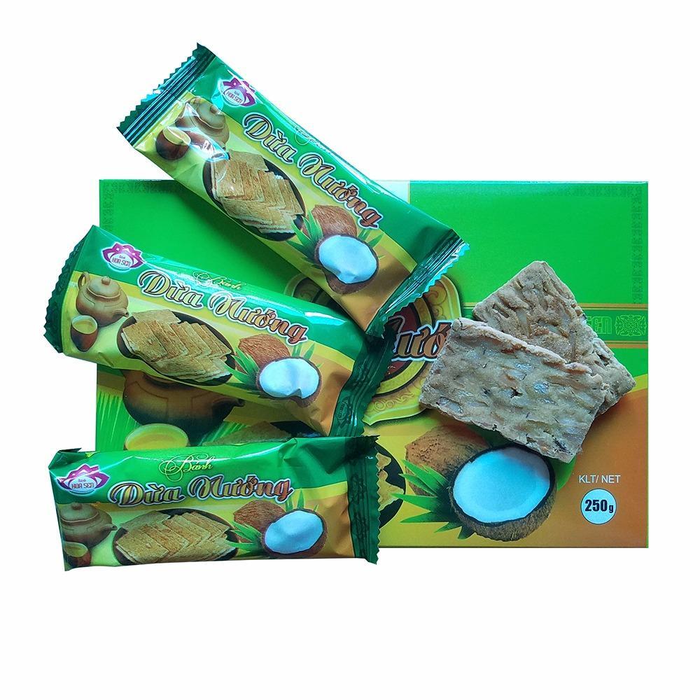 Cập Nhật Giá Combo 2 hộp Bánh dừa nướng Hoa Sen- đặc sản quảng nam ( 2x250g)