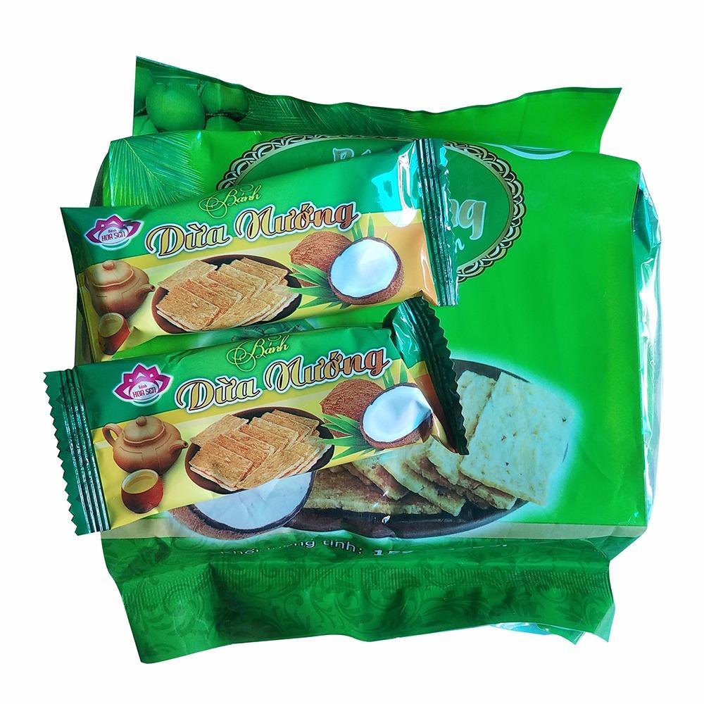 Com bo 3 bịch Bánh dừa nướng Hoa Sen- đặc sản quảng nam đóng bịch ( 3x 15g x 14 gói)