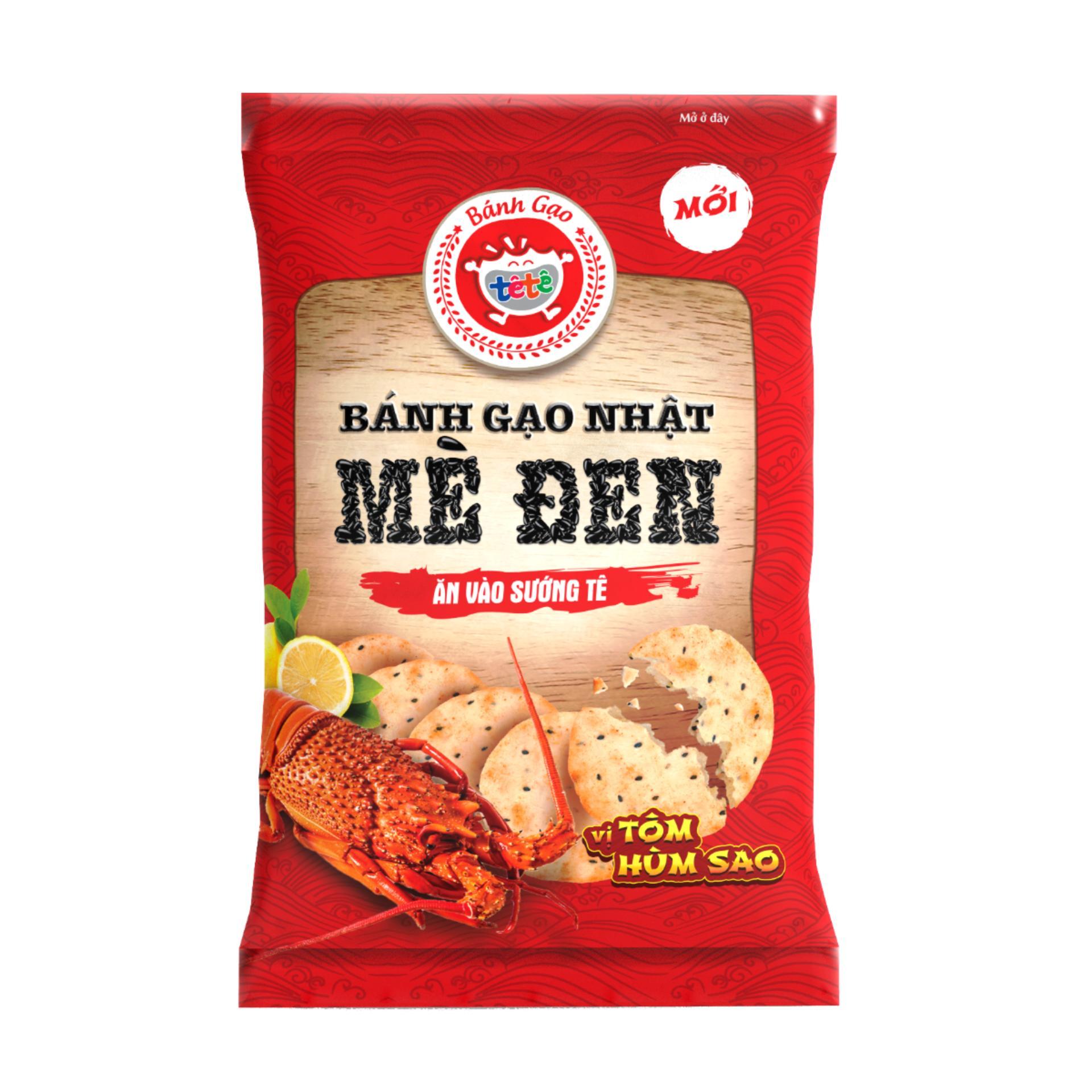 Bánh Gạo Nhật Mè Đen Vị Tôm Hùm Sao 140g