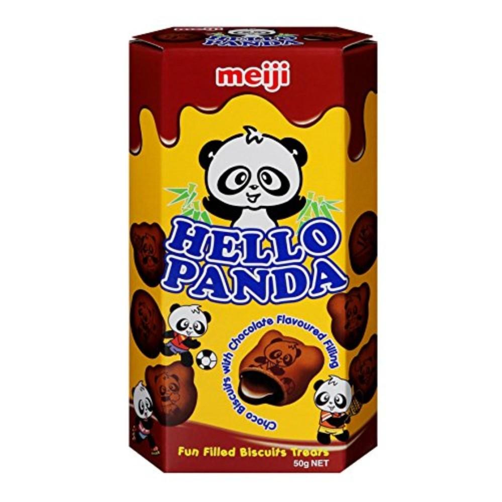 Bánh gấu MEIJI Hello Panda 50gr – Double Chocola