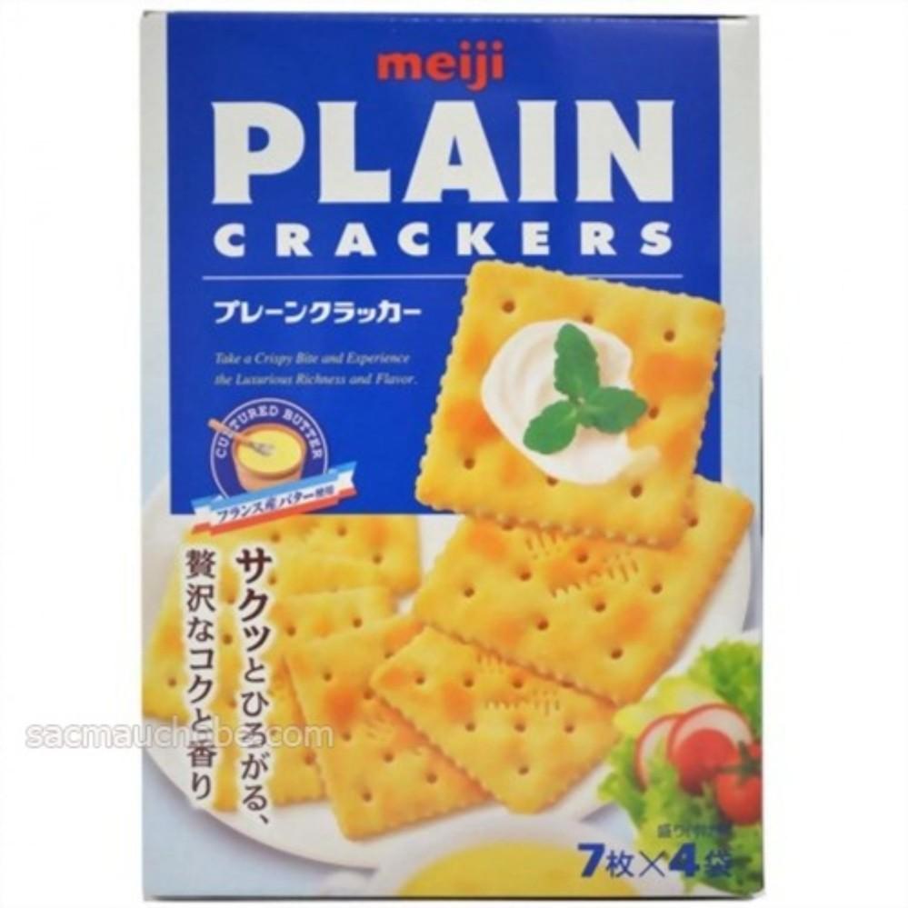 Bánh Meiji PLAIN CRACKERS 104g – dành cho người ăn kiêng