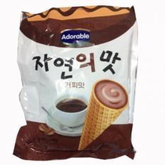 Giá Sốc Bánh ốc quế kem cà phê Adorable Hàn Quốc 300g