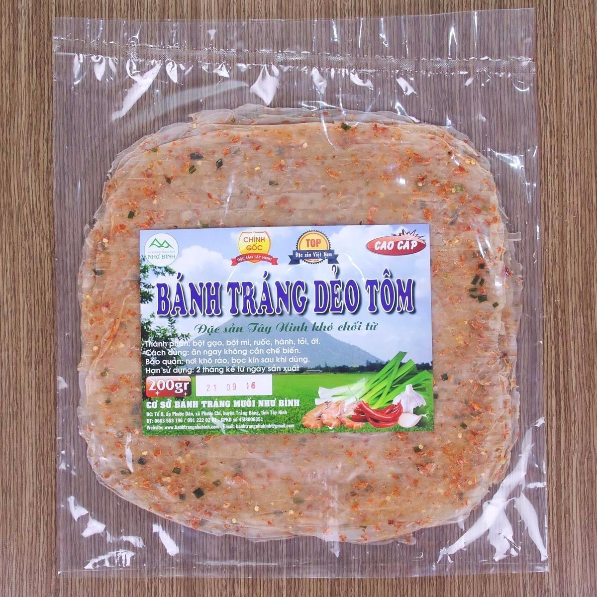 Bánh Tráng Dẻo Tôm (5 xấp) – Đặc Sản Tây Ninh Khó Chối Từ
