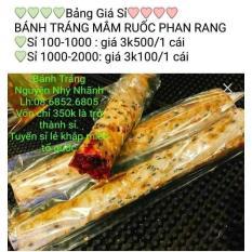 Bánh tráng mắm ruốc Ninh Thuận