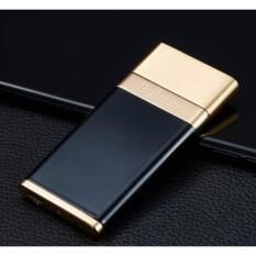 Bật lửa điện hồng ngoại sang trọng Lighter + Tặng Kèm Dây Cáp Sạc (Đen – Vàng)
