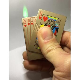 Bật lửa dùng gas kiểu dáng lá bài K Cơ