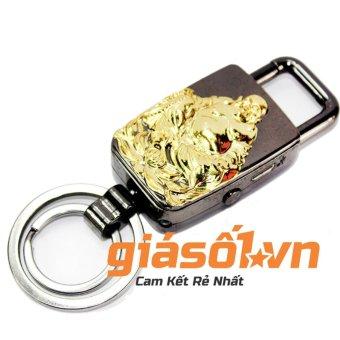 Bật lửa sạc điện USB,đèn pin, móc khóa Phật Di Lặc