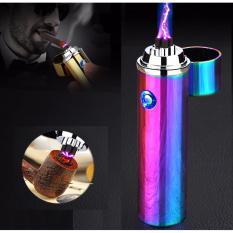 Bật lửa xung điện đa năng phóng 2 tia plasma cực mạnh F213 (Màu Vàng)