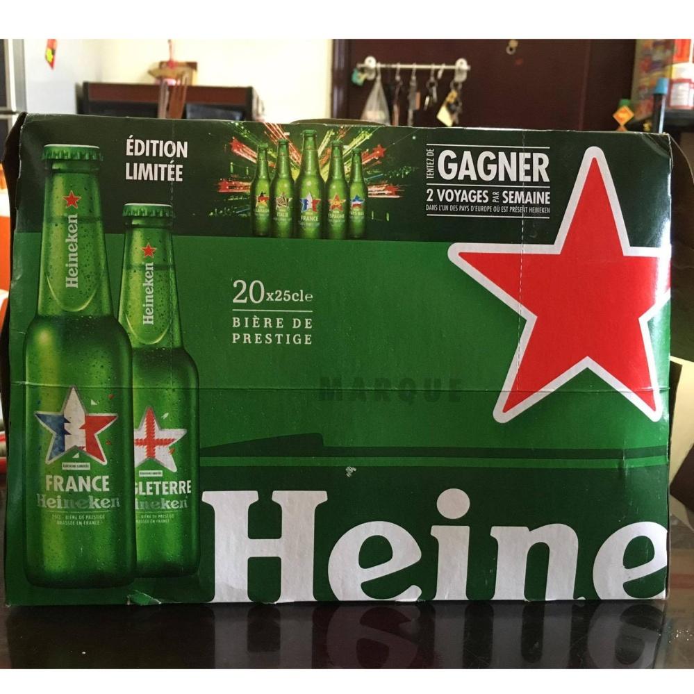 Bia Heineken Pháp nhập khẩu (Thùng 20 chai)