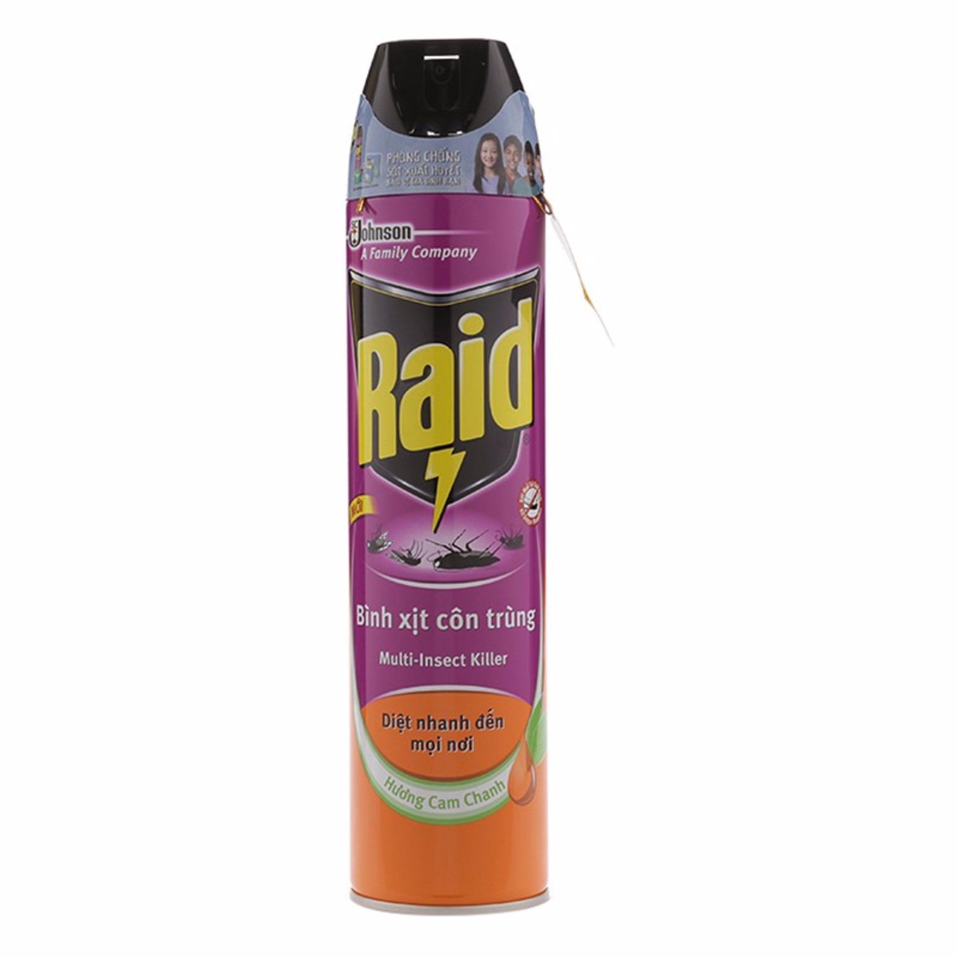 Chỗ nào bán Bình xịt côn trùng Raid hương cam chanh 600ml