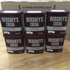 Bộ 06 Hộp Bột Socola Hershey'S Cacao Tự Nhiên 226G
