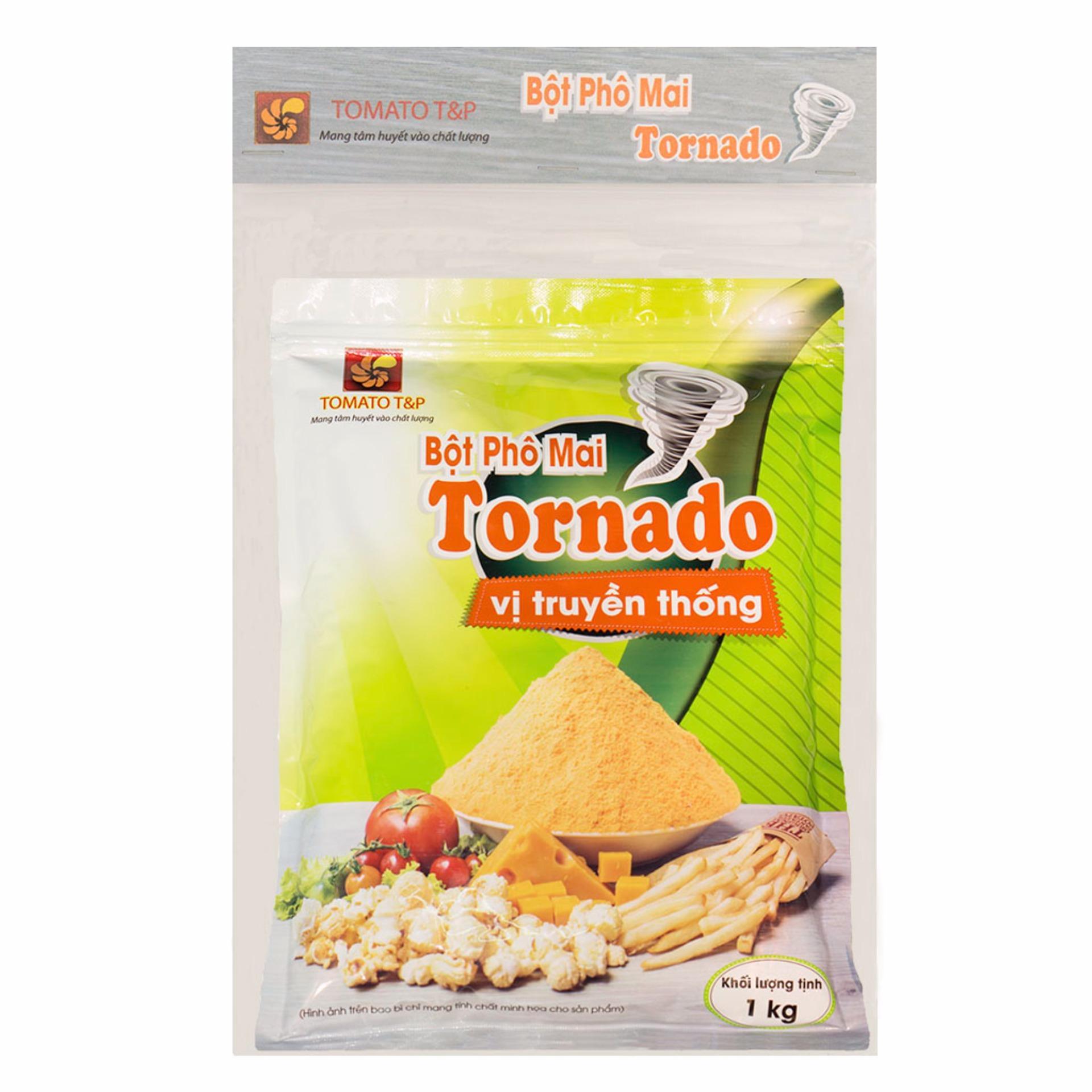 Trang bán Bộ 1 bột phô mai truyền thống 1kg và 1 bột phô mai truyền thống vị cay 1kg Tornado