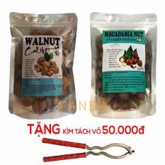 Cập Nhật Giá Bộ 1 túi quả óc chó 500gr + 1 túi hạt macca 500gr