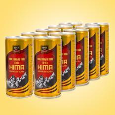 Bộ 10 Nước uống Đông trùng hạ thảo Tổ Yến Hima (10 lon x 170ml/lon)