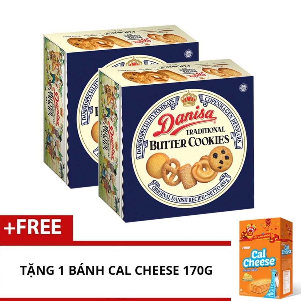Bộ 2 bánh quy bơ Danisa butter 454g + Tặng bánh Cal Cheese 170g