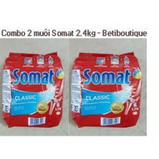 Bộ 2 bịch bột rửa bát Somat 2.4g Đức
