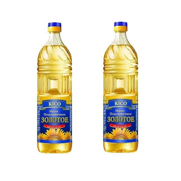 Bộ 2 chai Dầu ăn hướng dương KICO Zolotoe Zdorovie 1L