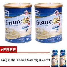 Bộ 2 Ensure Gold Hương Vani 850g tặng 2 chai Ensure nước