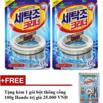 Bộ 2 gói bột tẩy vệ sinh lồng máy giặt 450g + Tặng kèm 1 gói bộtthông cống nội địa Hando 100g SV528 - 8726315 , SE290WNAA2SJFXVNAMZ-4800452 , 224_SE290WNAA2SJFXVNAMZ-4800452 , 230000 , Bo-2-goi-bot-tay-ve-sinh-long-may-giat-450g-Tang-kem-1-goi-botthong-cong-noi-dia-Hando-100g-SV528-224_SE290WNAA2SJFXVNAMZ-4800452 , lazada.vn , Bộ 2 gói bột tẩy vệ sin