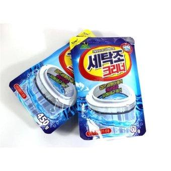 Bộ 2 gói bột tẩy vệ sinh lồng máy giặt SANDOKKABI siêu sạch ( Lồngngang + Đứng )