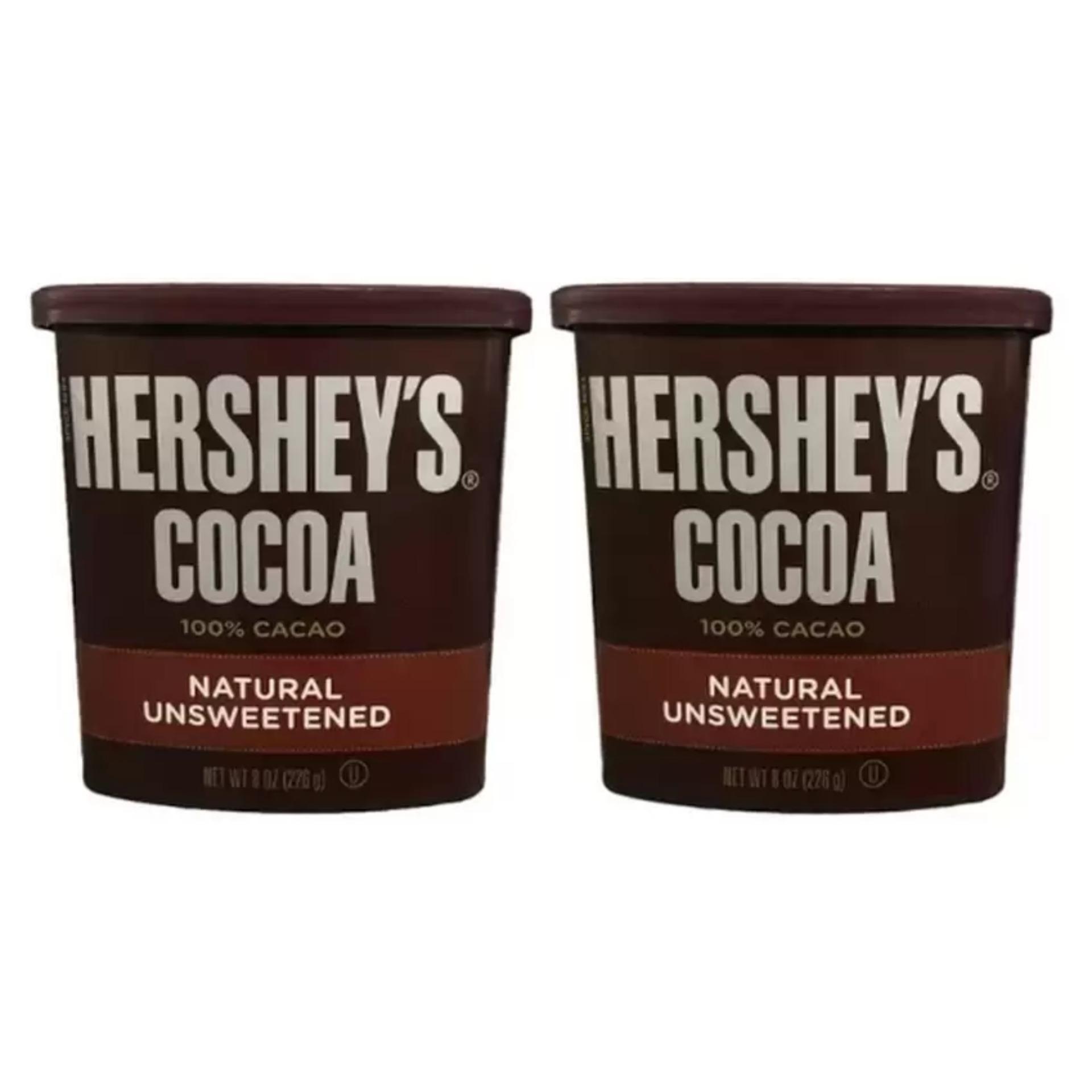 Bộ 2 hộp bột cacao Hershey's 100% cacao tự nhiên 226g