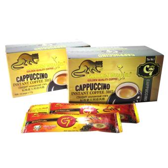 Bộ 2 hộp cà phê hòa tan Cappuccino Con Chồn Vàng C7 16 gói/hộp - 10245564 , GO792WNAA1V9K0VNAMZ-3156998 , 224_GO792WNAA1V9K0VNAMZ-3156998 , 198000 , Bo-2-hop-ca-phe-hoa-tan-Cappuccino-Con-Chon-Vang-C7-16-goi-hop-224_GO792WNAA1V9K0VNAMZ-3156998 , lazada.vn , Bộ 2 hộp cà phê hòa tan Cappuccino Con Chồn Vàng C7 16 gó