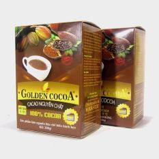 Bộ 2 hộp cacao nguyên chất Golden Cocoa 300g làm bánh