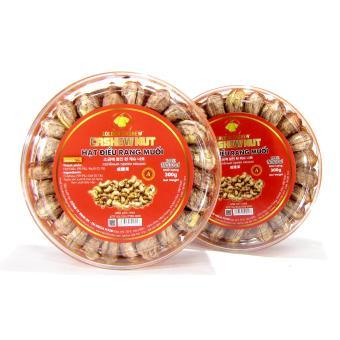 Bộ 2 hộp Hạt điều rang muối Golden Cashew 300g