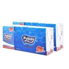 Bộ 2 khăn giấy lụa Pulppy Hương Quế x 6 gói