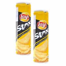 Bộ 2 Snack Khoai Tây Vị Tự Nhiên Lay's Stax Lon 100G