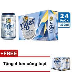 So Sánh Giá Bộ 2 thùng 24 lon bia Tiger Crystal 330 ml + Tặng 4 lon cùng loại